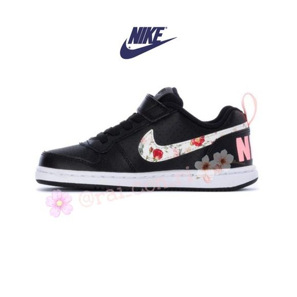 enchufe Te mejorarás Rebaja  Nike Shoes | Nike Court Borough Floral | Poshmark